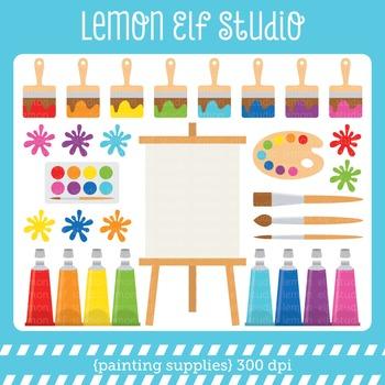 Painting Supplies-Digital Clipart (LES.CL07)
