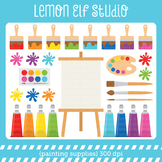 Painting Supplies-Digital Clipart (LES.CL07)