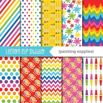 Painting Supplies-Digital Paper (LES.DP07)
