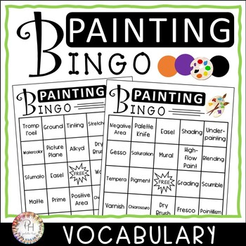 Painting BINGO | Vocabulary Review Game