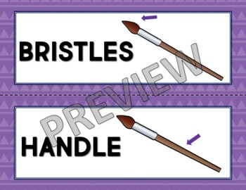 Painting Vocabulary Word Wall