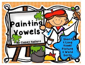 Painting Vowels {Short & Long Vowel Picture Sorts}