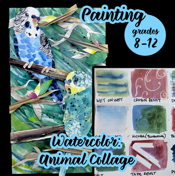 Painting - Watercolor Animal Collage & Technique Introduction