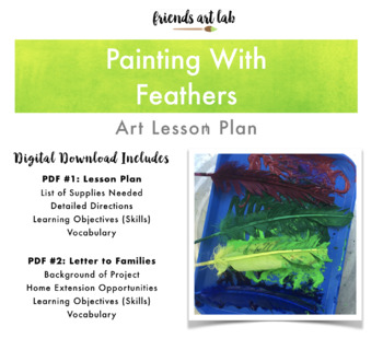 Painting With Feathers (Connecting Process Art, STEAM, Sensory, & Birds)