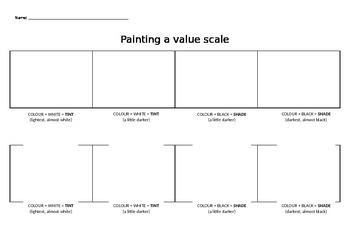 Painting a value scale