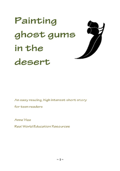 Painting ghost gums in the desert - Easy Reading Short Story