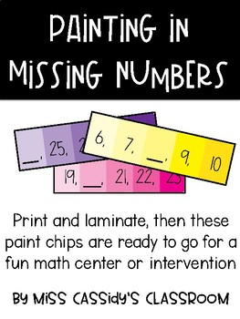 Painting in Missing Numbers