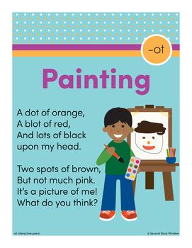 Painting - ot Word Family Poem of the Week - Short Vowel O Fluency Poem