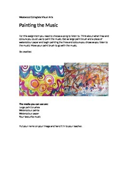 Painting the Music- Special Needs