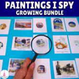Paintings I Spy Art Close-up Matching Activities Growing Bundle