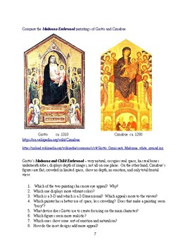 Paintings of Giotto video notes and activities