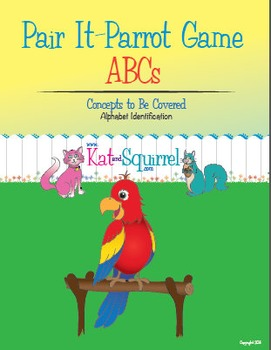 Pair It! Parrot! ABCs - Alphabet Recognition