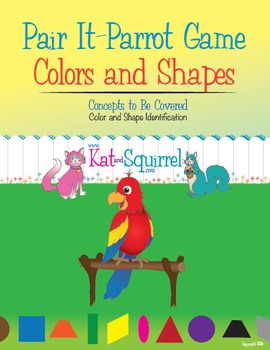 Pair It! Parrot! Colors and Shapes