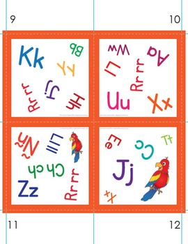 Pair It! Parrot! Spanish Alphabet