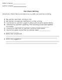 Pair Share Writing Form