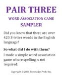 Pair Three Word Association Game Sampler