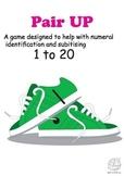 Maths Centre Game: Pair Up- A number sense game 1-20 (Kindergarten/1st Grade)