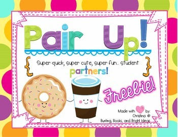 Pair Up Partner Cards {Freebie!}