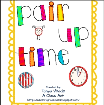 Pair Up with Time! HUGE matching activity