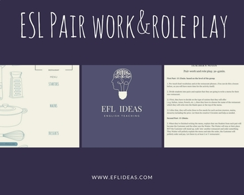 Pair Work&Role Play: Food/At The Restaurant. Student sheet&Teacher's sheet