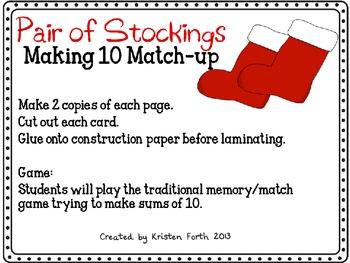Pair of Stockings- Ways to Make 10 game