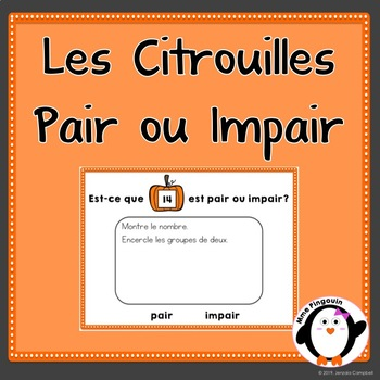 Pair ou Impair (Les Citrouilles) / Pumpkin Even or Odd (0-20) {FRENCH}