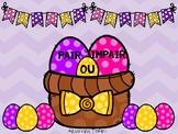Pair ou impair - Paniers d'œufs