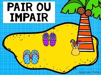 Pair ou impair - Sandales dans le sable