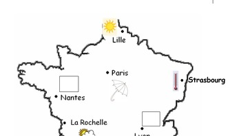 French weather report : speaking pairwork.