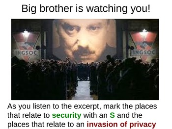 Paired Close Reading of Chapter 1 of Orwell's 1984 and Editorial on Privacy