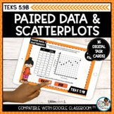 Paired Data and Scatterplots   Boom Cards Distance Learning