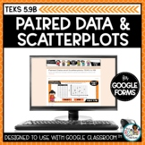 Paired Data and Scatterplots | Digital Math Task Cards