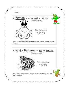 Paired Fiction and Nonfiction Mini-Lesson using Frog Stories
