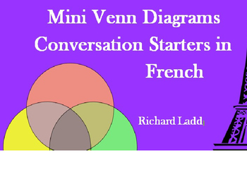 Paired Mini Venn Diagram FRENCH Bellringer & Conversation Starters Activity