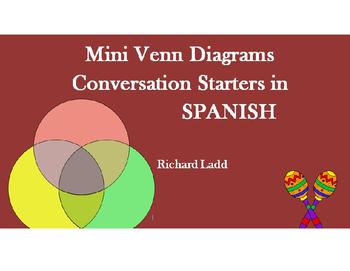 Paired Mini Venn Diagram SPANISH Bellringer & Conversation Starters Activity