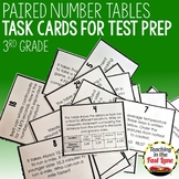 Paired Number Tables Task Cards