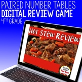Paired Number Tables and Number Patterns Review Game - Hot Stew Review
