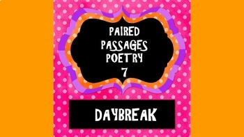 Paired Passage: Daybreak