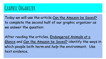 Paired Passage Essay Prep: Endangered Animals Session 5