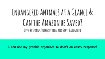 Paired Passage Essay Prep: Endangered Animals Session 6