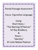 Paired Passage - Figurative Language Assessment (Test or Quiz)
