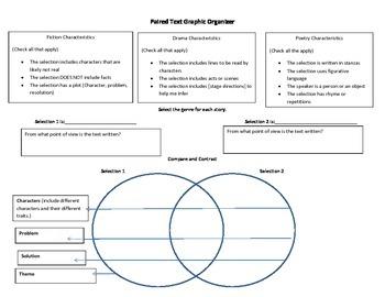 Paired Passage Graphic Organizer