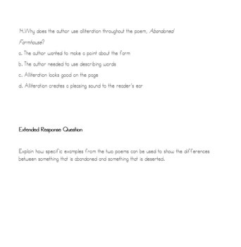 Reading Strategies/Close Reading Paired Passage: Poetry #6