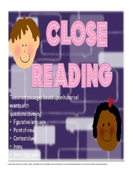 Close Reading Paired Passage  Reading Strategy Practice