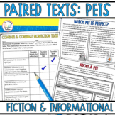 Paired Passages with Questions: Pets Fiction and Nonfiction