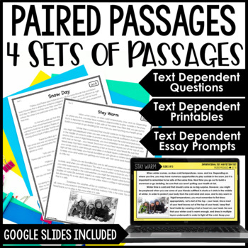 Paired Passages by Jennifer Findley | Teachers Pay Teachers