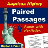 Paired Passages - American History Poems with Informational Text