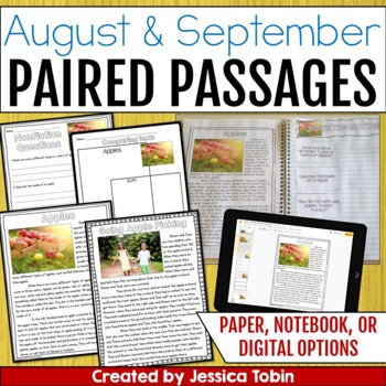 Paired Passages August and September