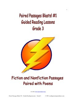 Paired Passages Blasts! #1 - Guided Reading Lessons - Grade 3