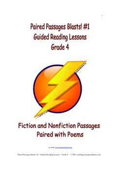 Paired Passages Blasts! #1 - Guided Reading Lessons - Grade 4
